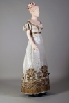 Three-quarter back view of evening dress, ca. 1815. KSUM 1986.97.28. Collection of the Kent State University Museum.